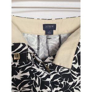 J. Crew Shorts - J. Crew Black and White Leaves Print Chino Shorts